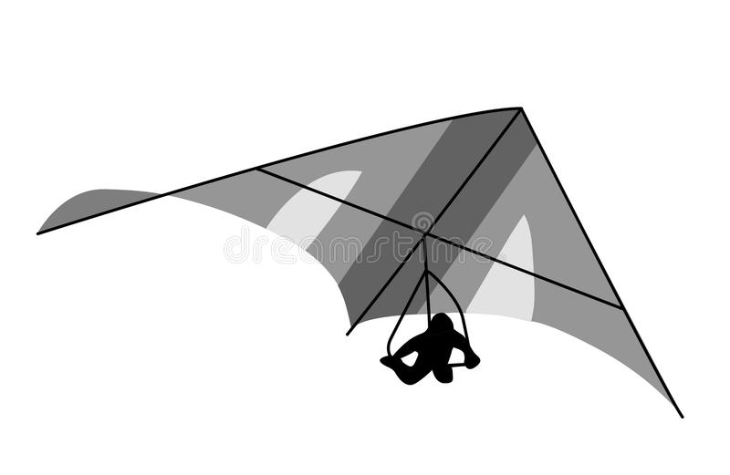 deltaplane vektor illustrationer