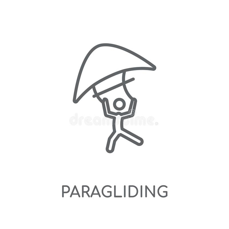 deltaplanings lineair pictogram Modern het embleemconcept van het overzichtsdeltaplaning royalty-vrije illustratie