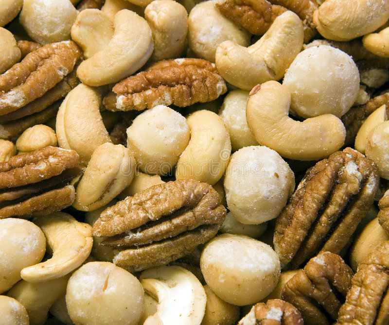 Deluxe Mixed Nuts stock images
