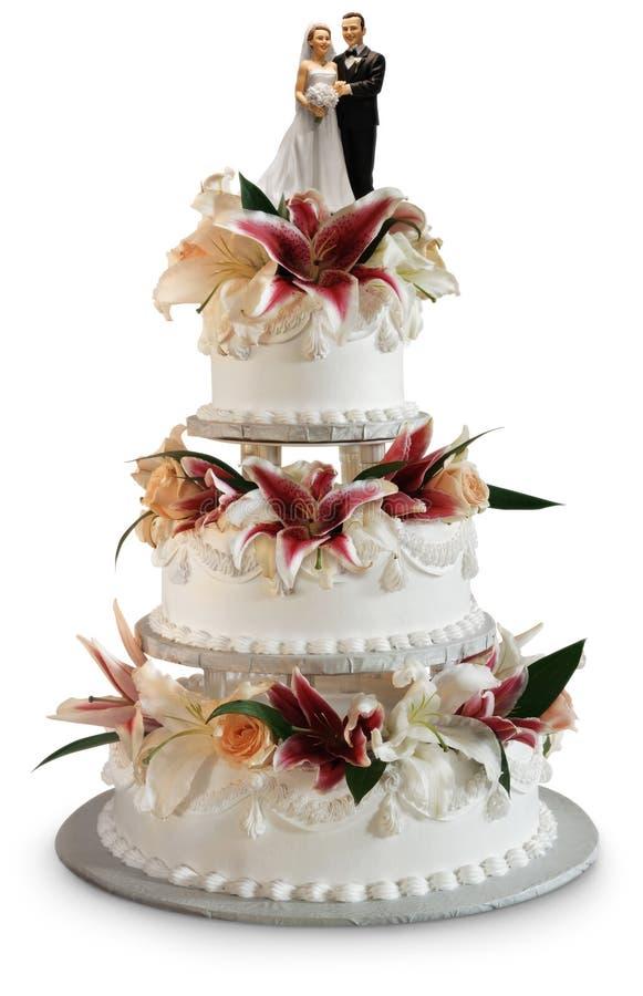 Deluxe wedding cake royalty free stock photo