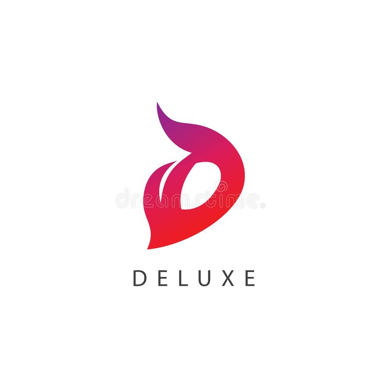 Deluxer Logo Vector Template Design Illustration lizenzfreie abbildung