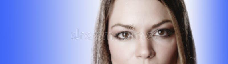 delvis kvinna för 3 framsida royaltyfri foto