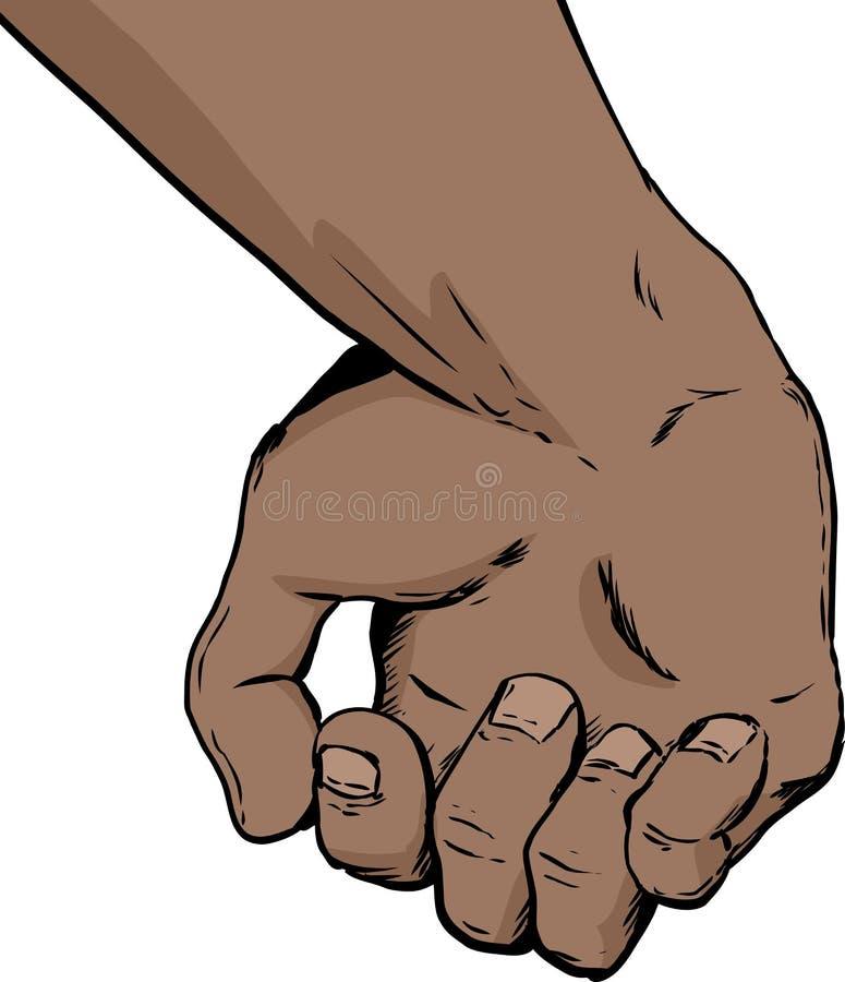 Delvist öppen mänsklig hand royaltyfri illustrationer