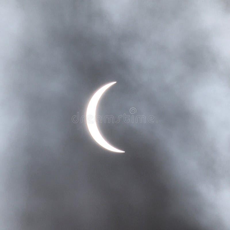 delvist sol- för förmörkelse royaltyfri bild