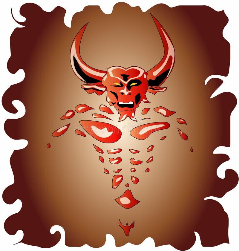 Demónio de Bull ilustração royalty free