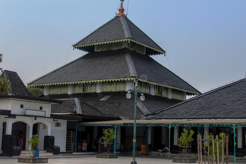 Demak grand mosque, indonesia. Demak Great Mosque is one of the oldest mosques in Indonesia. The founder of this mosque is estimated to be Raden Patah, the first stock photography