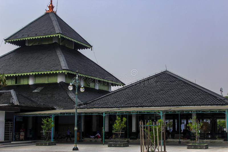 Demak grand mosque, indonesia. Demak Great Mosque is one of the oldest mosques in Indonesia. The founder of this mosque is estimated to be Raden Patah, the first stock photo