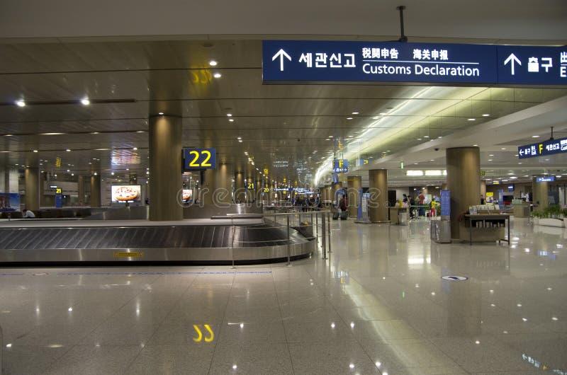 Demanda del equipaje del aeropuerto de Inchon fotografía de archivo libre de regalías