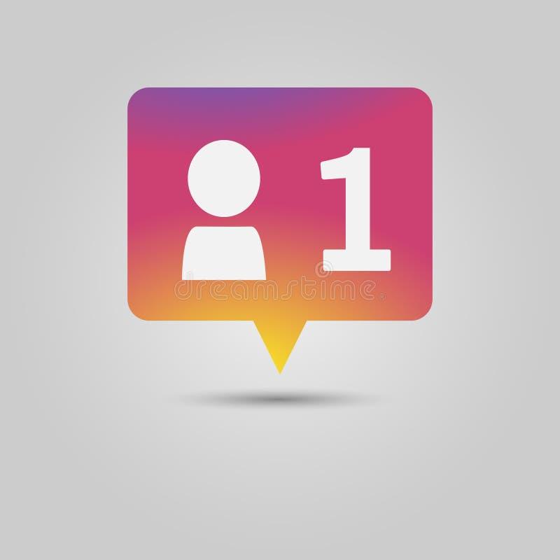 Demande d'ami, message automatique d'avis de médias sociaux illustration libre de droits
