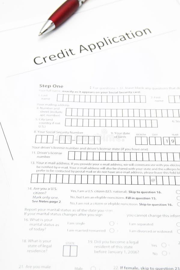 Demande de crédit images libres de droits