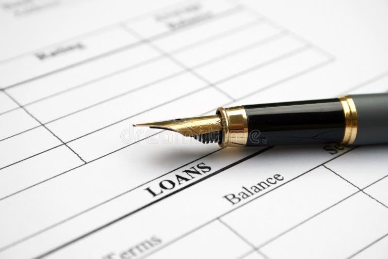Demande de prêt images libres de droits