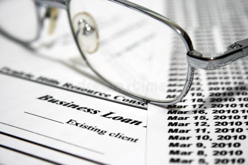 Demande de prêt d'affaires images stock