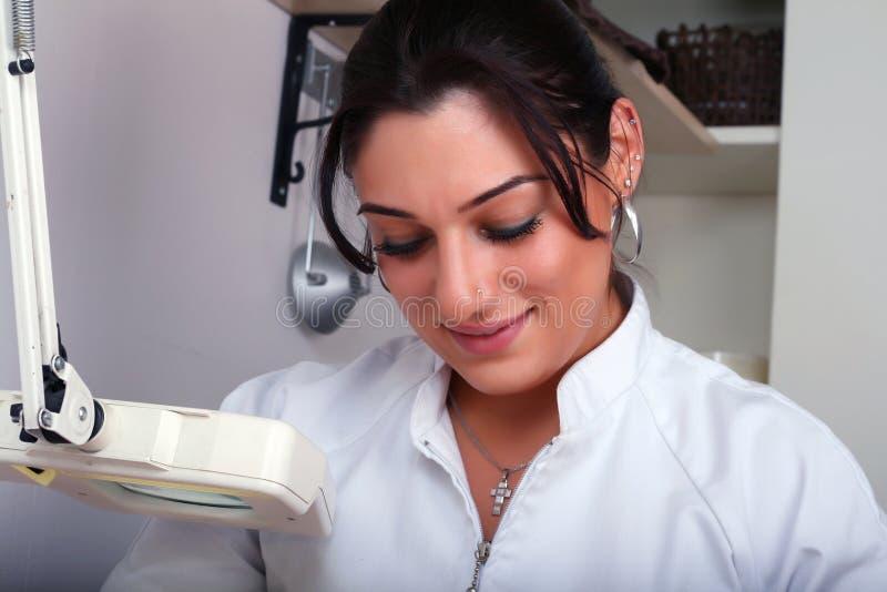 Demande de règlement de peau photographie stock
