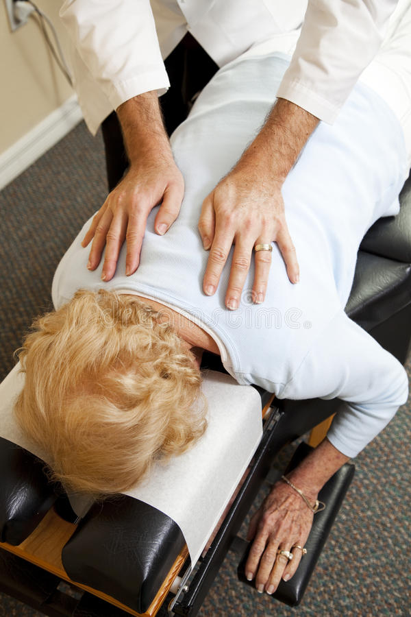 Demande de règlement de soin de chiropraxie photo stock