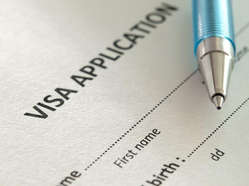 Demande de visa photographie stock libre de droits