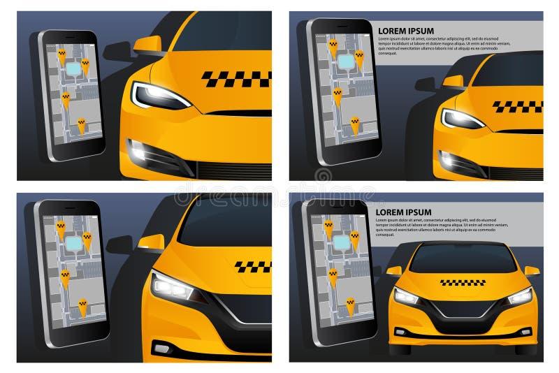 Demande mobile de taxi de commande photographie stock