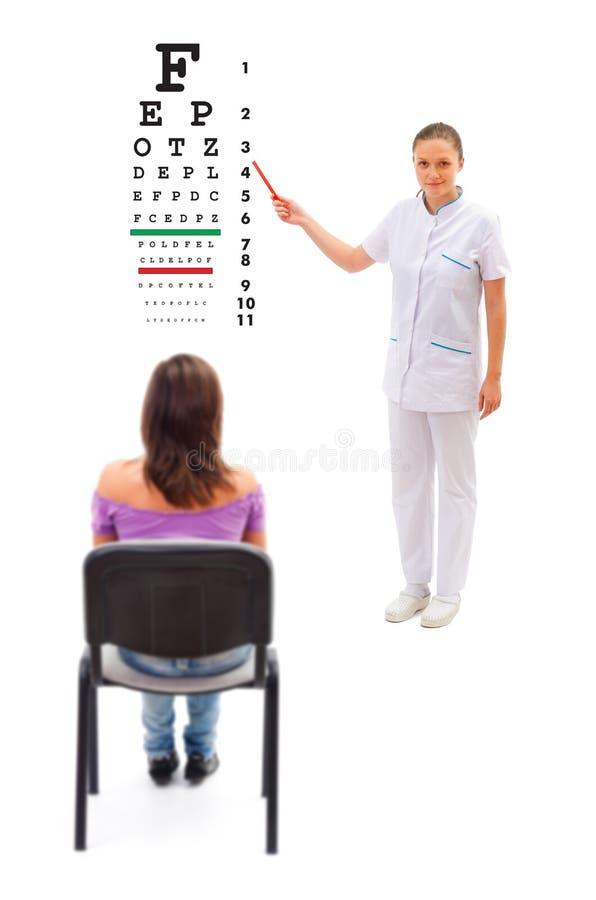 Demander femelle de docteur photo stock