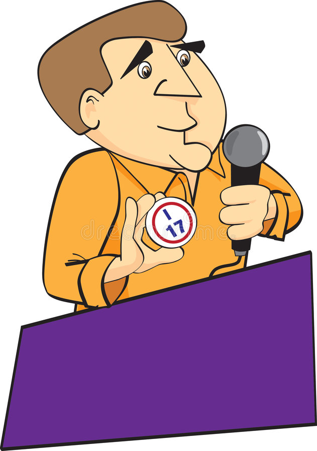 Demandeur de bingo-test illustration stock