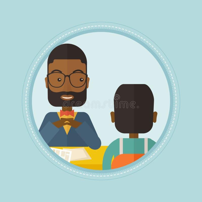 Demandeur de travail ayant l'entrevue pour la position illustration libre de droits