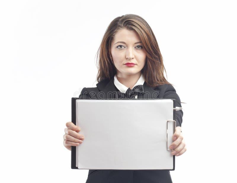 Demanding Woman stock image