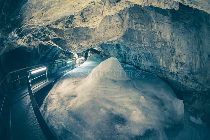 Demanovska ice cave royalty free stock photography