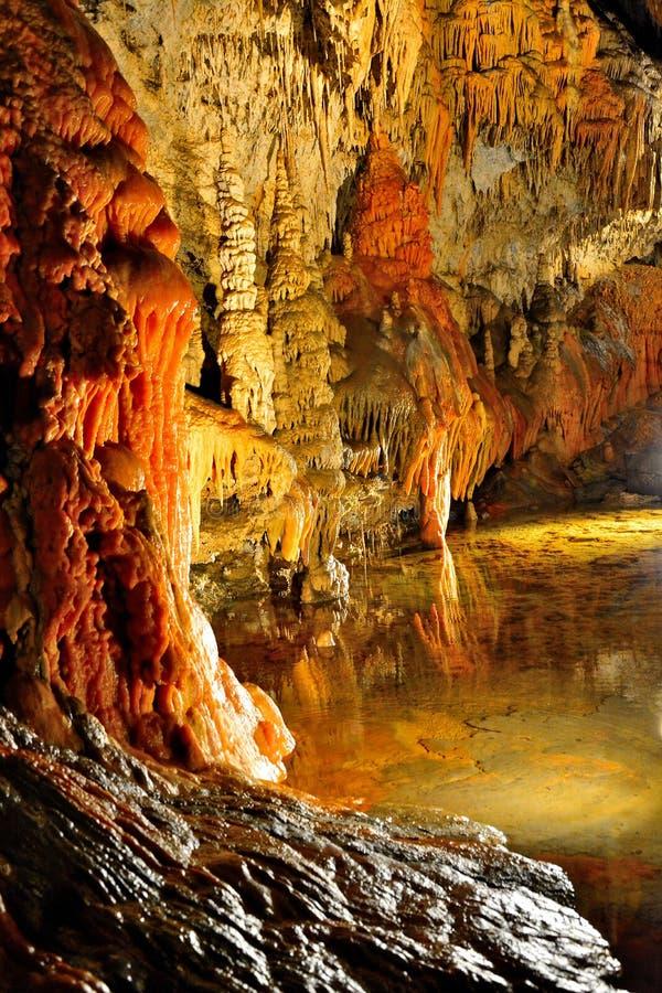 Demanovska Liberty Cave immagine stock libera da diritti