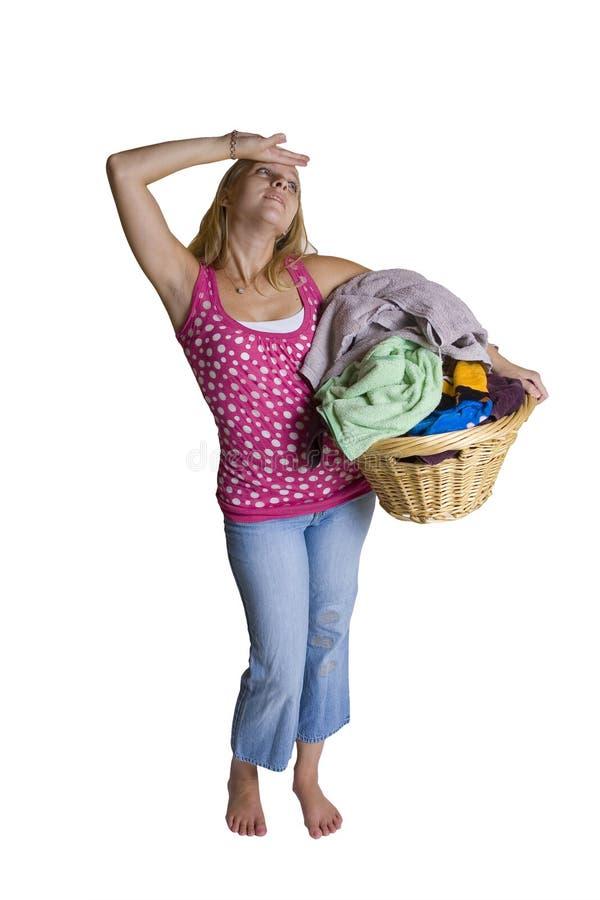 Demasiada lavanderia fotografia de stock royalty free
