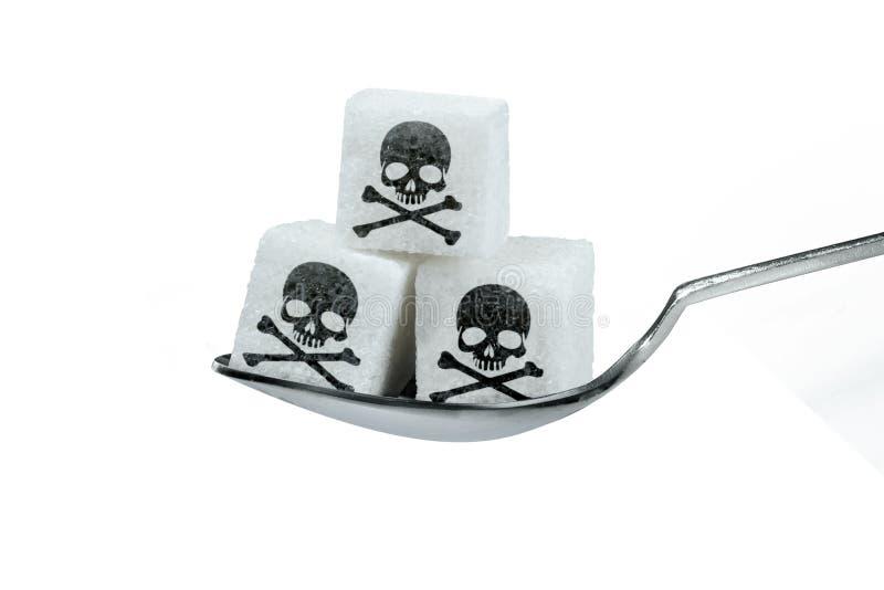 Demasiado açúcar é prejudicial imagens de stock
