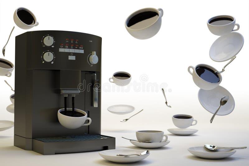 Demasiado branco do café ilustração do vetor