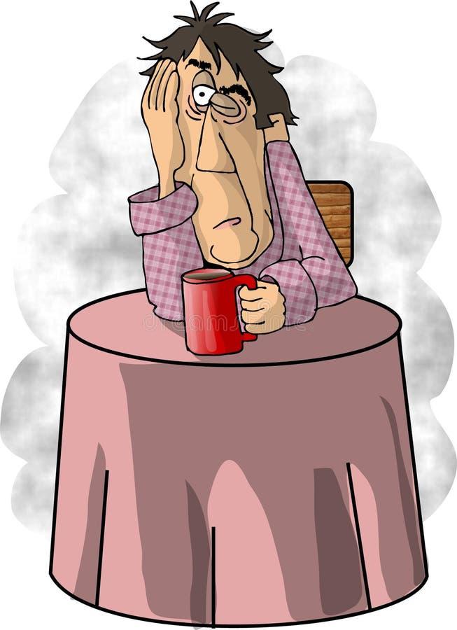 Demasiado café stock de ilustración