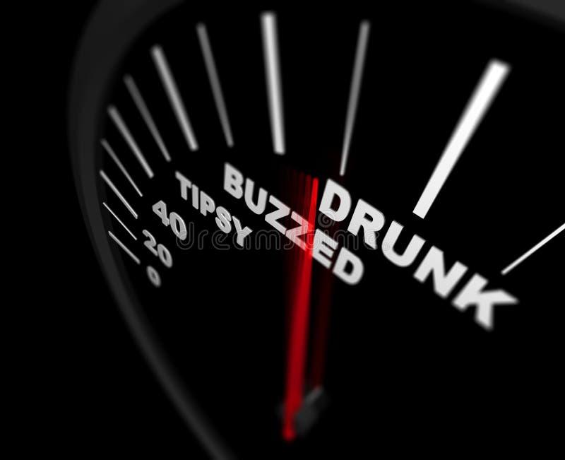 Demasiado para beber - o alcoolismo ilustração do vetor