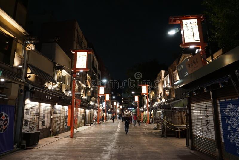 Demboin-dori gata: var en streetscape under den Edo perioden arkivbilder