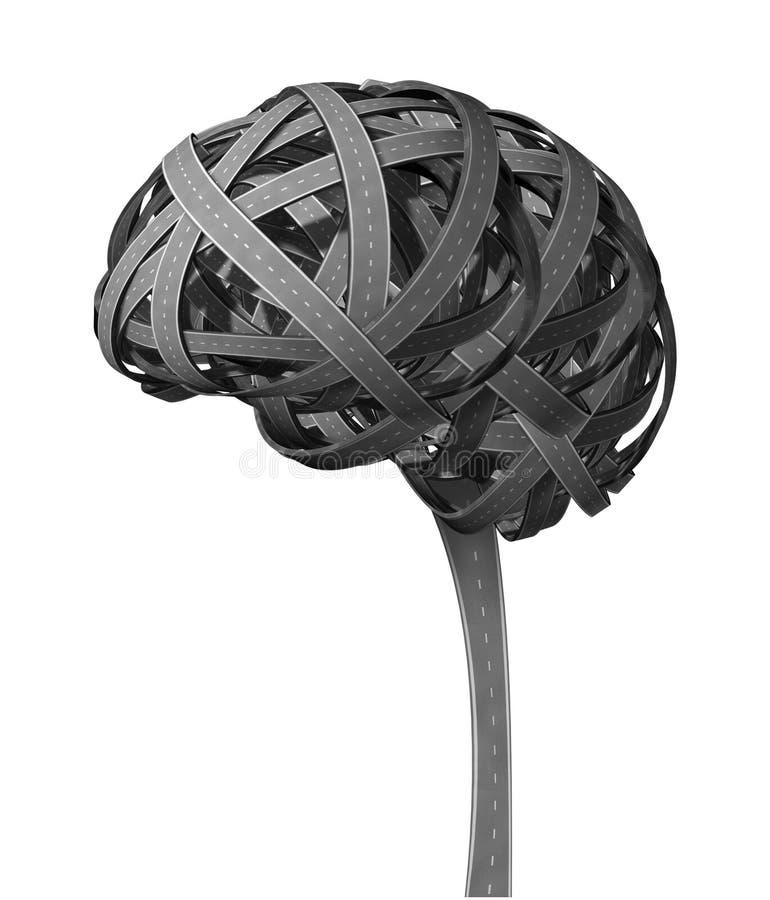 Demencia del cerebro humano stock de ilustración