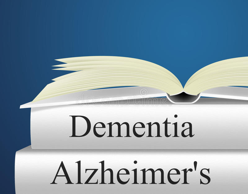Dementia Alzheimers Represents Alzheimer's Disease And Confusion vector illustration