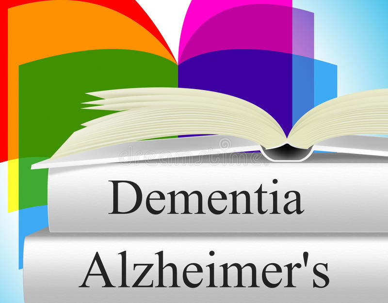 Dementia Alzheimers Shows Alzheimer's Disease And Confusion royalty free illustration