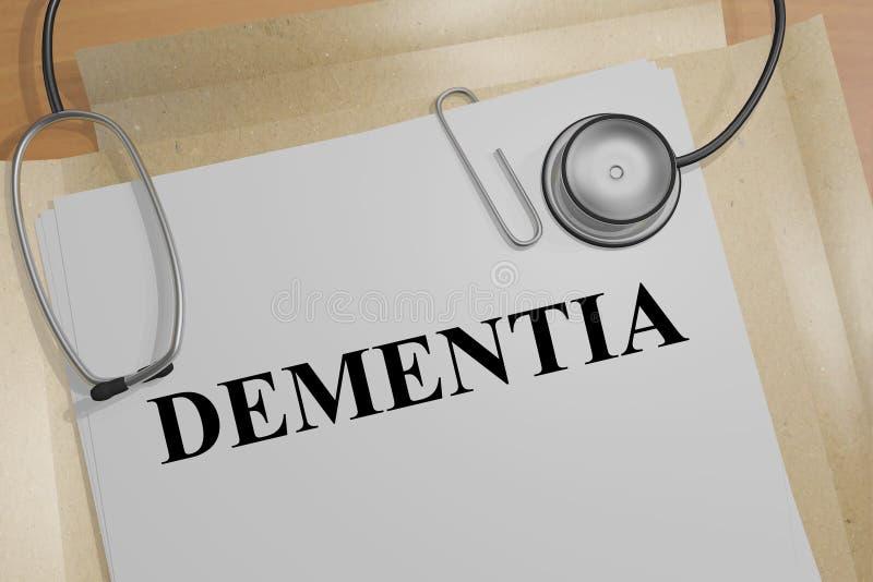 Dementia - medical concept vector illustration