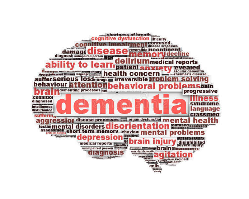 Dementia message design isolated on white. Background. Mental health symbol conceptual design vector illustration