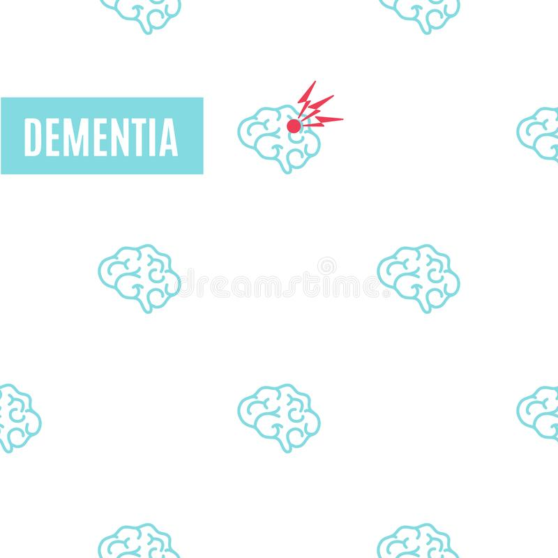 Dementia pattern poster stock vector. Illustration of illness ...