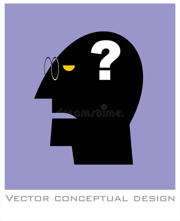 demesne alzheimer Głowa i znak zapytania Zdrowia psychicznego symbo zdjęcie royalty free