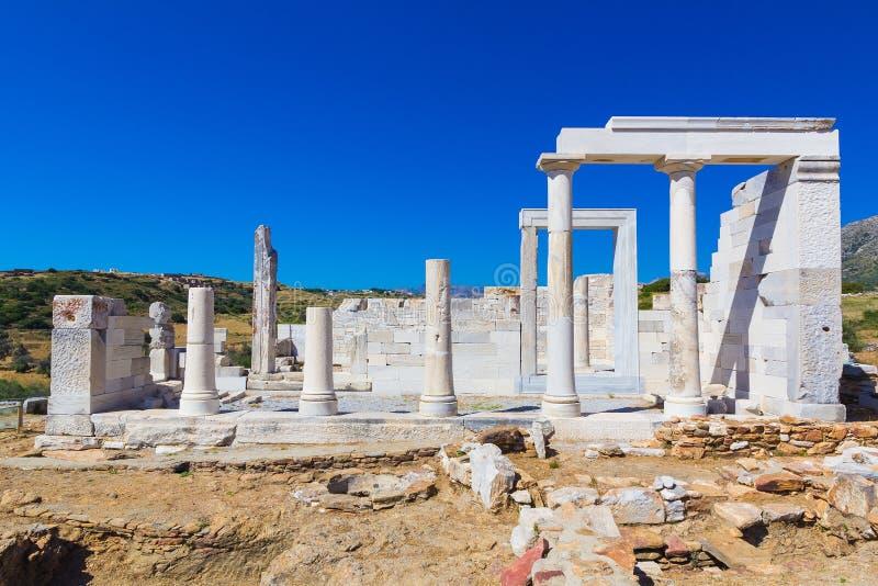 Demeter Temple, Naxos-eiland, Egeïsche Cycladen, Griekenland royalty-vrije stock afbeelding
