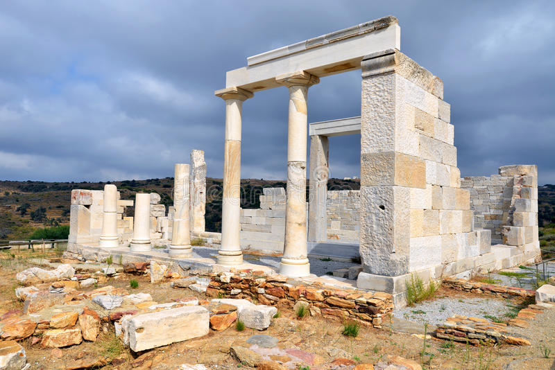 Demetertempel, Naxos arkivbilder
