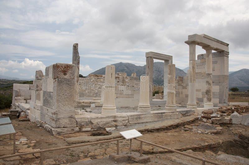 Demetertempel von Naxos stockbild