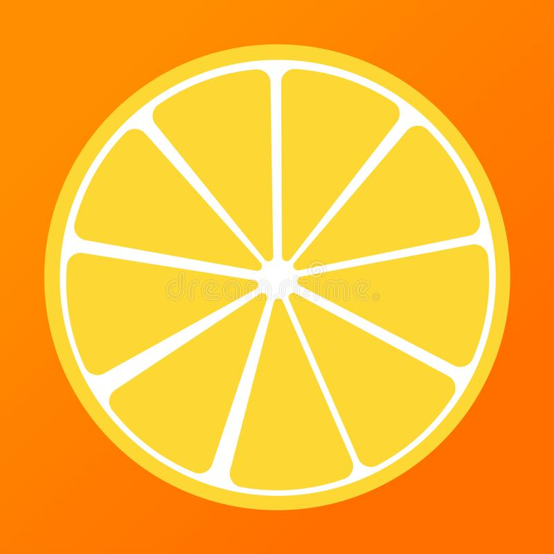 demi été jaune citron et orange de fond illustration libre de droits