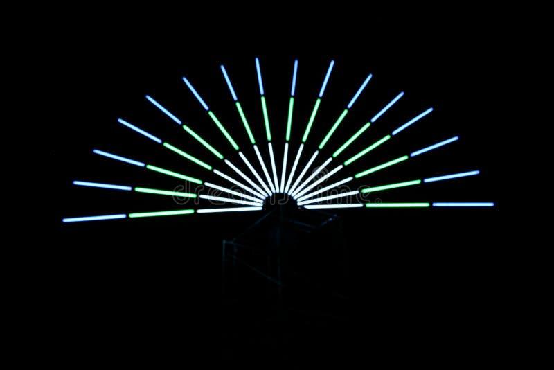 Demi-cercle multicolore de lumières images stock