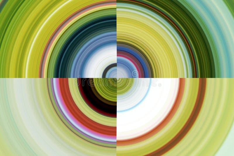 Demi-cercles gris jaunes verts, fond illustration stock