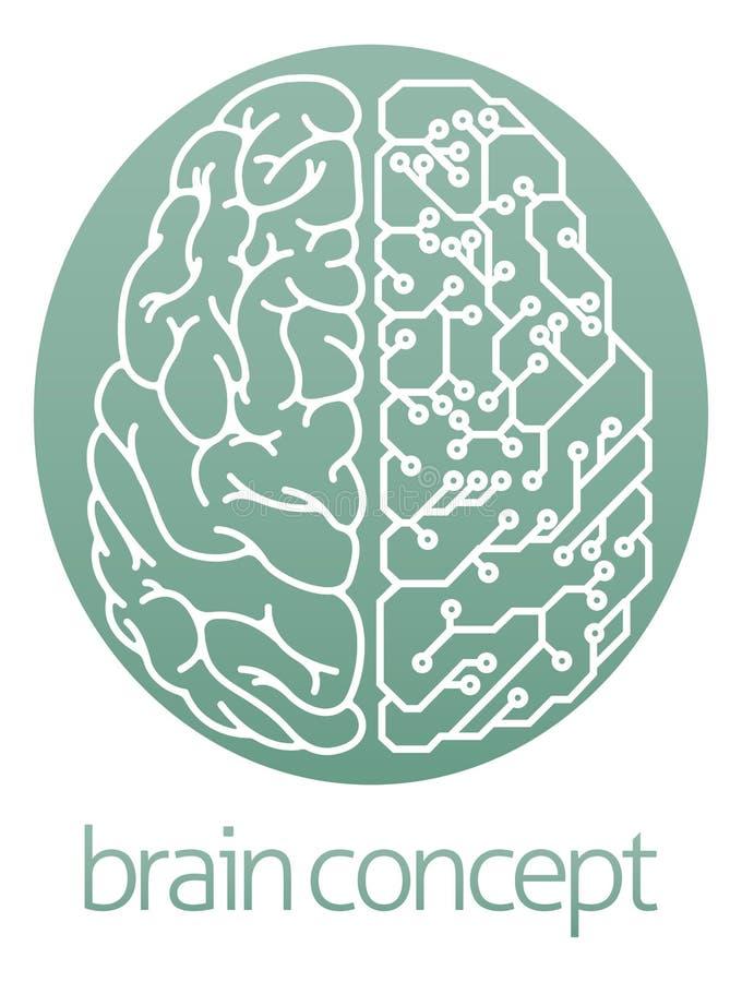 Demi cerveau électrique de carte illustration de vecteur