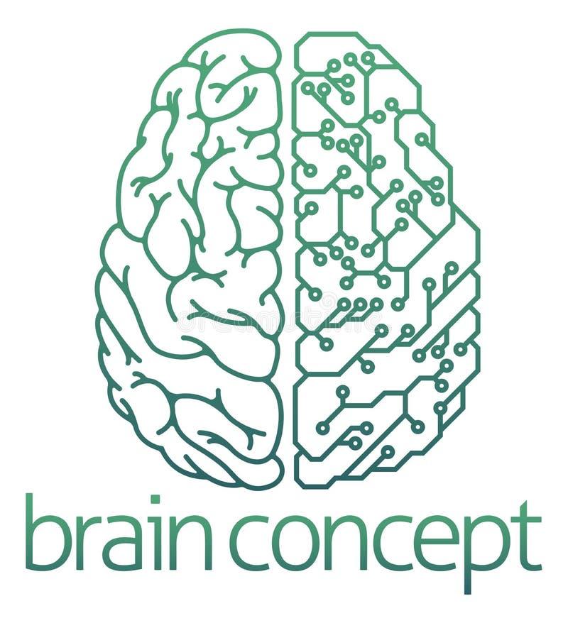Demi concept électrique de carte de cerveau illustration stock
