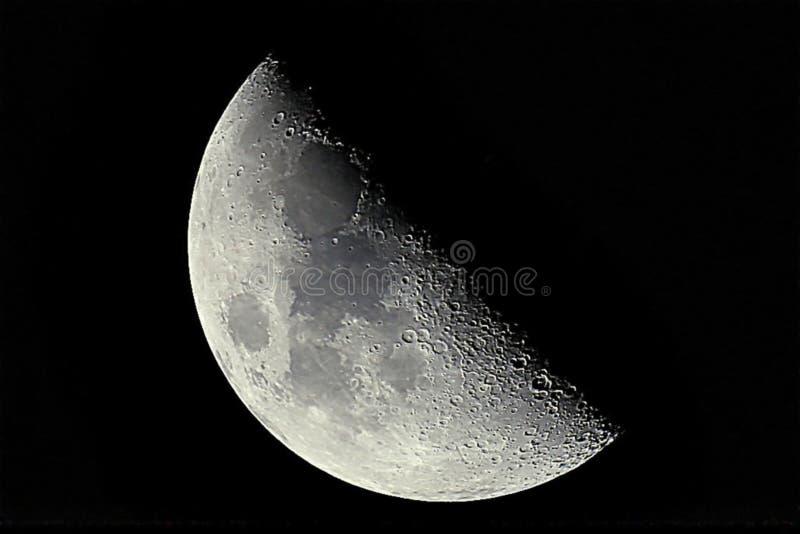 Demi croissant de lune photographie stock