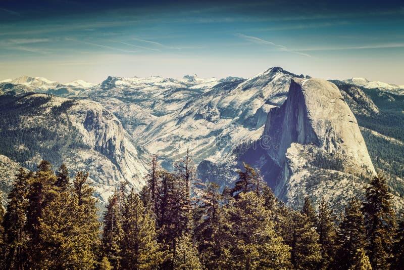 Demi dôme de Yosemite photographie stock