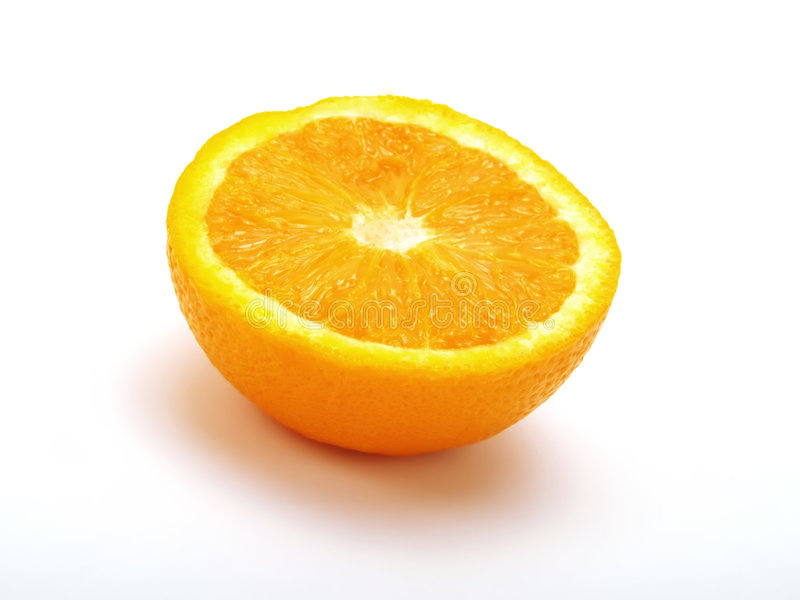 Demi d'orange photo stock